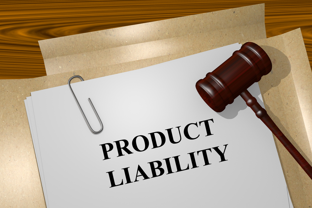 Files with a Product Liability form and a gavel